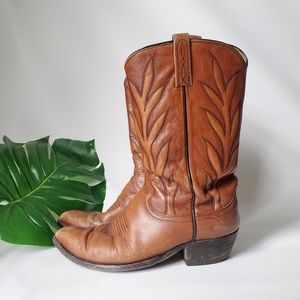 Dan Post Leather Cowboy Western Boots